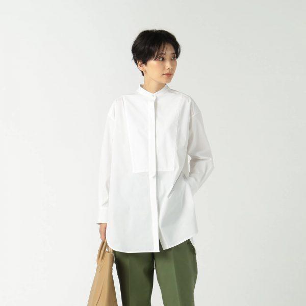 MICA & DEAL (マイカ&ディール) band collar shirt ¥20,900