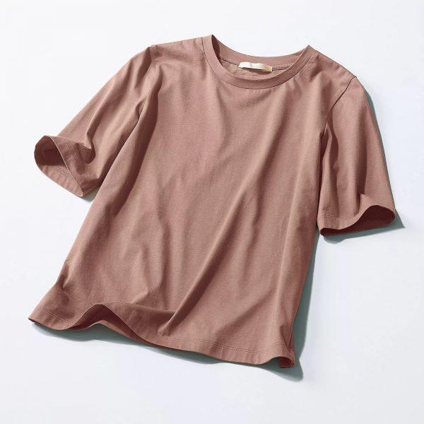 E by eclat大人五分袖Tシャツ¥9,900(税込)物画