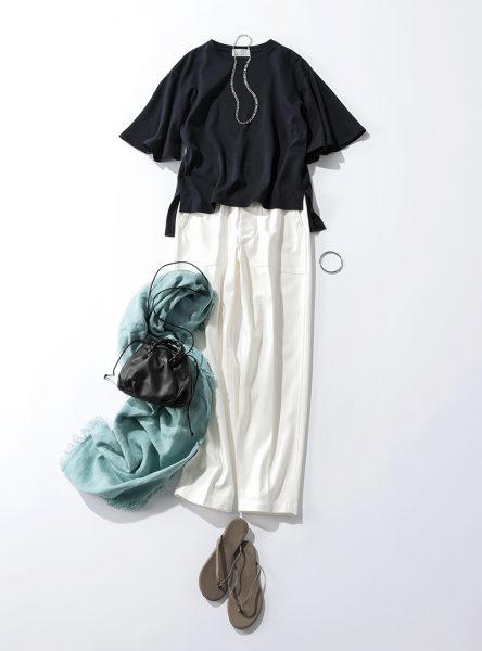 M7days 袖フレアトップス ¥10,890