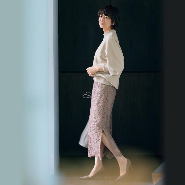富岡佳子が着るE by éclat 14Days どんなシーンでも頼りになる万能10着 エクラ10月号2021年特集