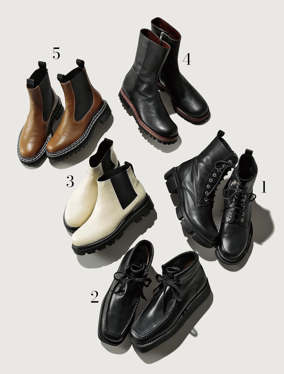 ペタンコなのにきれい見え!美脚フラット&旬ごつ靴でリラックスカジュアルstyle