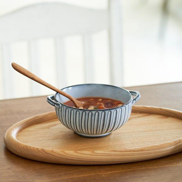 霧鎬(SAIKAI EDITION)耳付きスープ椀のおすすめポイント / 耳付きで持ちやすいです。