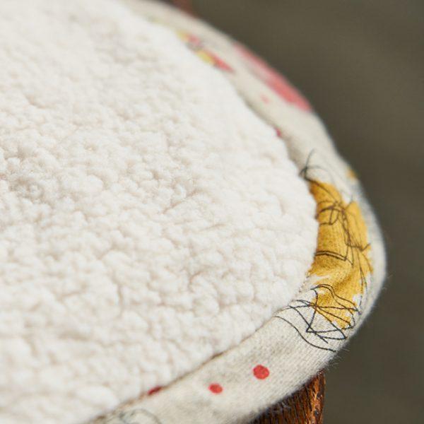 【LIBERTY】リバティプ リント ブランケット(エアリーコットン)のおすすめポイント / 裏面も柔らかく肌触りが良いです。